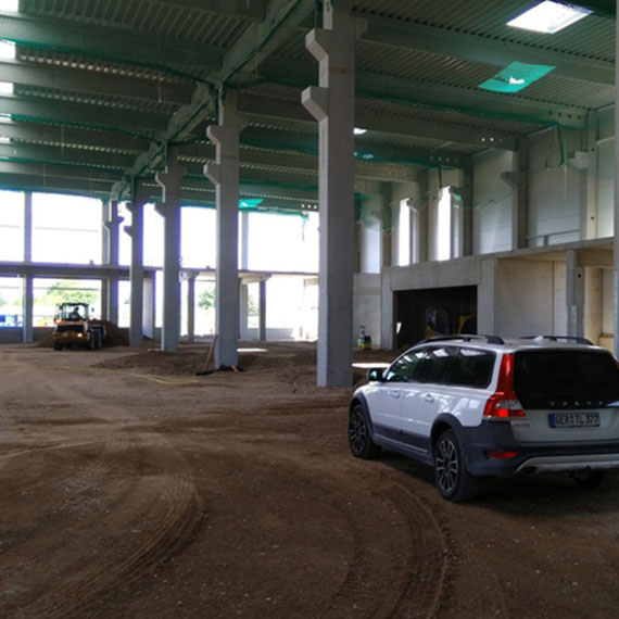 Referenzen, Neubau Firmengebäude mit Maschinenhalle GPA-Jakob Bietigheim